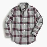 J.Crew Kids' lightweight flannel shirt in grey plaid