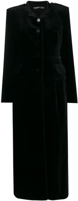Tom Ford Velvet Long Single-Breasted Coat