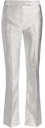 3.1 Phillip Lim Metallic Lame Slim-Leg Trousers