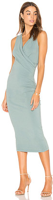 Michael Stars Faux Wrap Tank Midi Dress