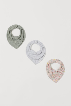H&M 3-Pack Cotton Triangle Scarves