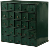 Rejuvenation Hunter Green 25-Drawer Parts Cabinet c1930