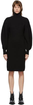 Juun.J Black Wool Turtleneck Dress
