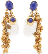 Etro Gold-plated Embellished Earrings - one size