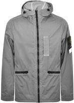 Stone Island Light Overcoat Jacket Grey