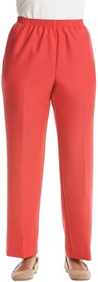 Alfred Dunner Women's Petite Proportioned Medium Poly Gab Pant