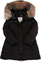 Moncler Fur-Hood Down Jacket-BLACK