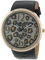 Vernier Women's VNR11067YG Glitter Glitz Polyurethane Strap Quartz Watch