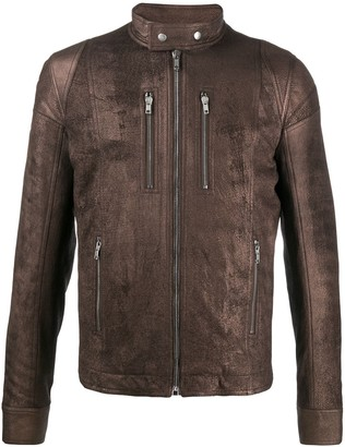 Rick Owens Fitted Zipped Biker Jacket