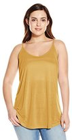 Angie Junior's Plus-Size Racer Back Knit Cami