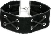 Steve Madden Velvet and Suede Crisscross Choker Necklace Necklace