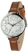 Tokyobay Tokyo Bay T361-TAN Women's Stainless Steel Brown Leather Band Dial Watch