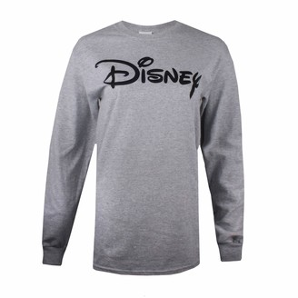 Disney Women's Plain Logo Long Sleeve TOP