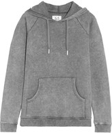 Zoe Karssen Faded cotton-blend jersey hooded top