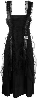 Comme des Garcons Buckle Detail Midi Dress