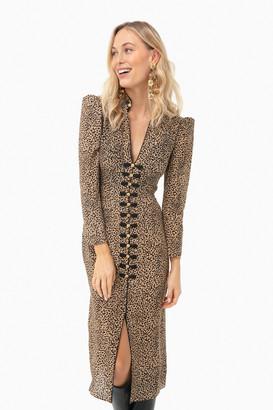 Saloni Camo Leopard Andrea Dress