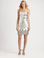 ABS Strapless Sequin Dress