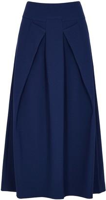 Roland Mouret Holmes blue midi skirt
