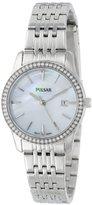 Seiko PULSAR Unisex PH7233 Analog Japanese-Quartz Silver Watch