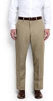 Classic Men's Plain Front Comfort Waist No Iron Chino Pants-Light Stone