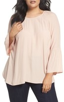 Daniel Rainn Plus Size Women's Bell Sleeve Blouse