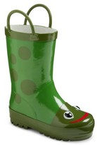 Western Chief Toddler Kid's Frog Rain Boots - Green