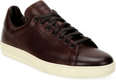 Tom Ford Men's Smooth Leather Cup-Sole Sneakers