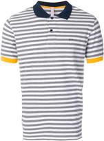 Sun 68 striped polo shirt