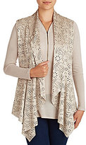 Peter Nygard Perforated Faux-Suede Eyelet Vest
