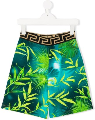 Versace Tropical-Print Casual Shorts