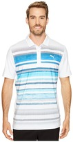 Puma Washed Stripe Polo PWRCOOL Men's Short Sleeve Knit