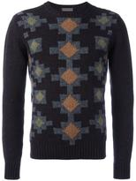 Etro chevron squared knit jumper