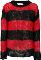 Faith Connexion open knit striped jumper - men - Mohair - XS