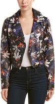 Sam Edelman Floral Starbust Moto Jacket