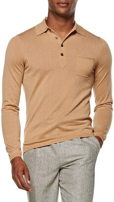 Suitsupply Cashmere Long Sleeve Polo Shirt
