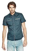 GUESS Men's Deksgure Short-Sleeve Ripstop Shirt