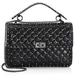 Valentino Women's Garavani Large Rockstud Spike Leather Shoulder Bag
