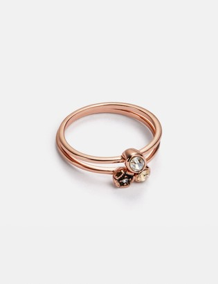 Coach Mini Tea Rose Cluster Ring Set