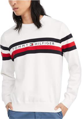Tommy Hilfiger Men Casper Regular-Fit Stripe Embroidered Logo Sweater