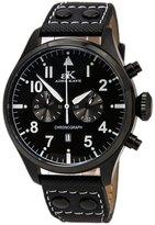Adee Kaye AK7234-MIPB Men's Chronograph Ion Plated Leather Strap Watch
