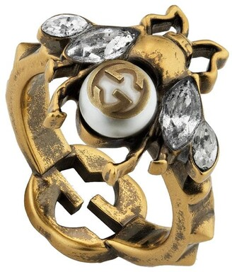 Gucci Interlocking G Bee ring
