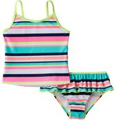 Carter's Baby Girl Striped Tankini Top & Ruffled Bottoms Swimsuit Set