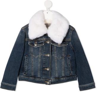 Ermanno Scervino Faux-Fur Denim Jacket