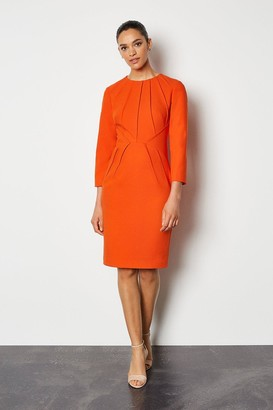 Karen Millen Pintuck Long Sleeve Tailored Dress