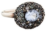 Alexis Bittar Gray Blueberry Marquis Pebble Diamond Ring