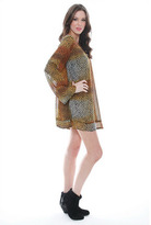 One Teaspoon Cheetah Long Sleeve Dress in Cheetah