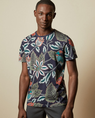 Ted Baker Cotton Tropical Printed T-shirt
