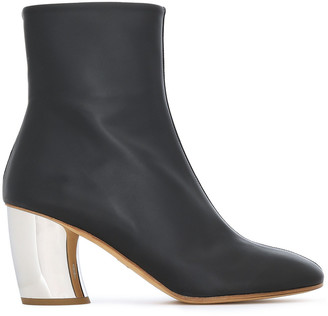Proenza Schouler Leather And Suede Ankle Boots