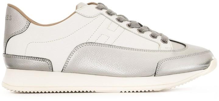Hermes pre-owned metallic panels H sneakers