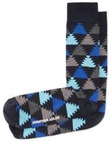 Jonathan Adler Aztec-Print Socks, Navy